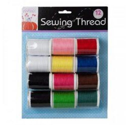 Picture of 12 Pack Colored Sewing Thread (pack of 6)