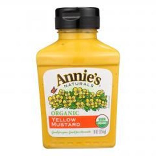 Picture of Annie's Naturals Organic Yellow Mustard - Case of 12 - 9 oz.