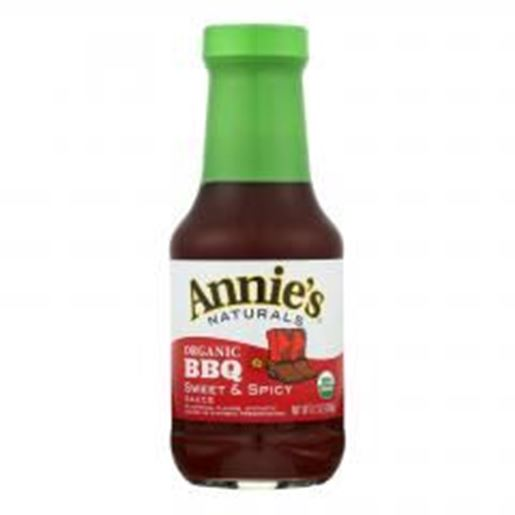 Picture of Annie's Naturals Organic Sweet and Spicy BBQ Sauce - Case of 12 - 12 oz.