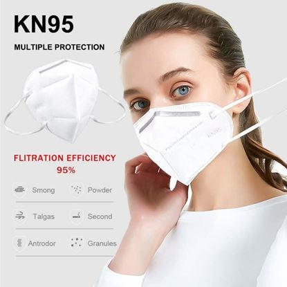 Picture of KN95 Face Mask Anti-Virus 95% bacteria filtration efficiency.