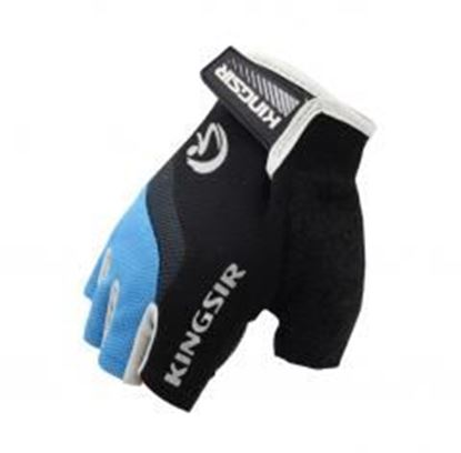 Picture of [BLUE]Wind Catcher Half Finger Gloves Men's Cycling Motocycling Gloves