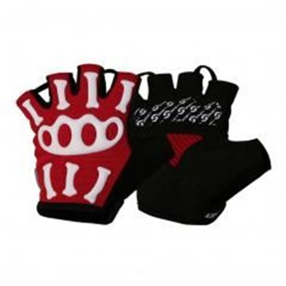 Picture of [RED]Skeleton Half Finger Gloves Men's Cycling Motocycling Gloves