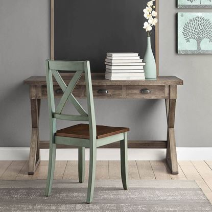 Foto de Better Homes & Gardens Maddox Crossing Dining Chairs, Set of 2, Antique Sage