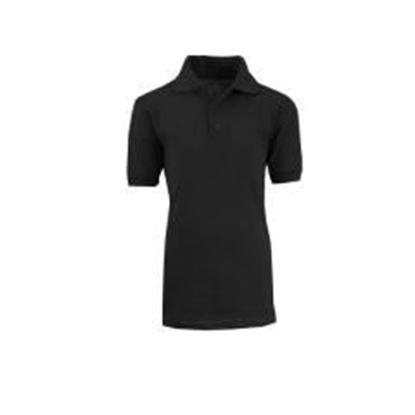 Adult Black School Uniform Polo Shirt - Size L Case Pack 36