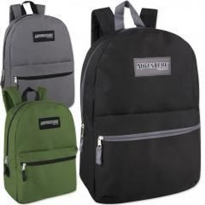 "17"" Basic Backpack - 3 Assorted Colors Case Pack 24"