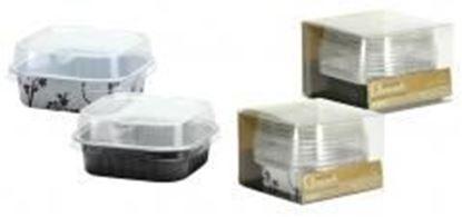 """2.75"""" Aluminum Pans with Lids - Square - Black - 5-Packs - Hanna K. Signature Elements Case Pack 36"""