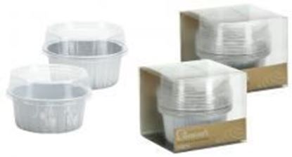 "2.5"" Aluminum Pans with Lids - Round - Silver - Hanna K. Signature Elements Case Pack 36"