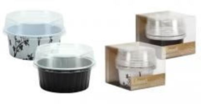"2.5"" Aluminum Pans with Lids - Round - Black - 5-Packs - Hanna K. Signature Elements Case Pack 36"