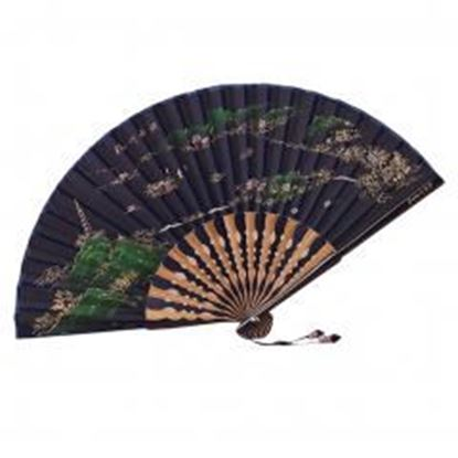 图片 [Chinese & Japanese] Retro Silk Hand Fan Portable Folding Fan Handheld Fan NO.10