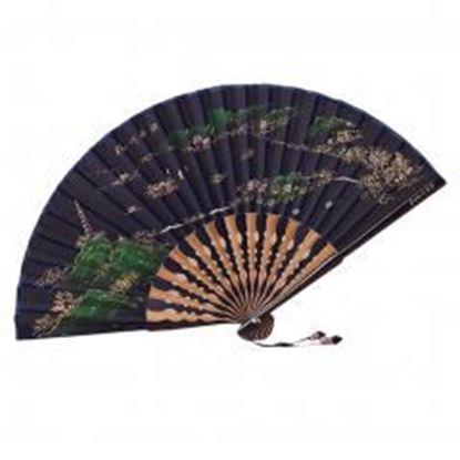 Picture of [Chinese & Japanese] Retro Silk Hand Fan Portable Folding Fan Handheld Fan NO.10