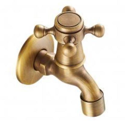 Picture of [Spigot] Brass Antique Faucet Mop Pool Faucet Wall Faucet Kitchen/Garden