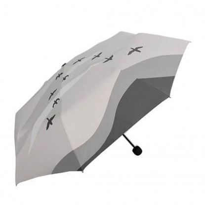 Alien Storehouse Fashion Creative Art Style Folding Vinyl Anti-UV Sun/Rain Umbrella Gray