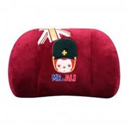 Picture of (Mr.ALI) Memory Cotton Waist Pillow/lumbar Support/Back Cushion,Ruby Red