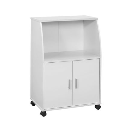 "Picture of 15.25"" x 22"" x 33"" White Particle Board Laminate  Kitchen Cart"