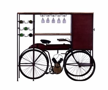 "Picture of 17"" X 58.5"" X 67.5"" Maroon Tricycle Delivery Bar"