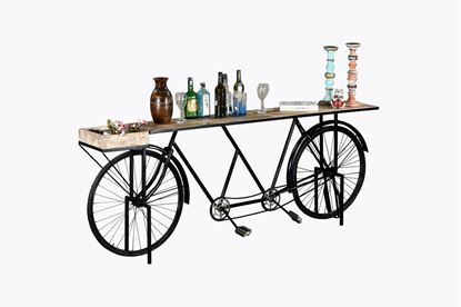 "Picture of 14"" X 88"" X 33.5"" Black Tandem Bicycle Bar"