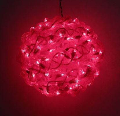 Picture of 10'' Red Spun Tube Light Ball 1 Lights