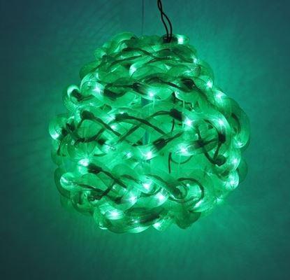图片 10'' Green Spun Tube Light Ball 1 Lights