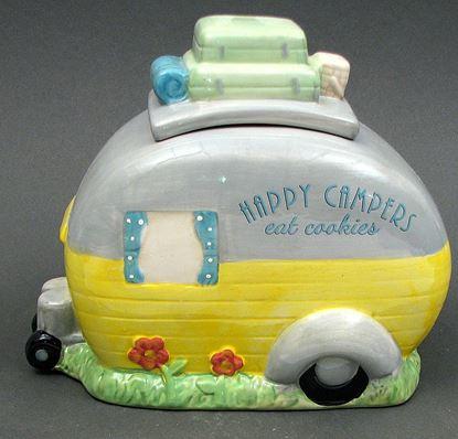 """图片 """"Happy Campers Eat Cookies"""" Cookie Jar"""