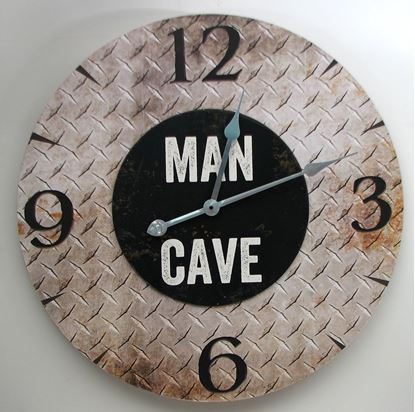 "Picture of ""MAN CAVE"" Wall Clock"