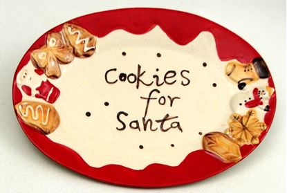 "Picture of ""Cookie For Santa"" Plate"