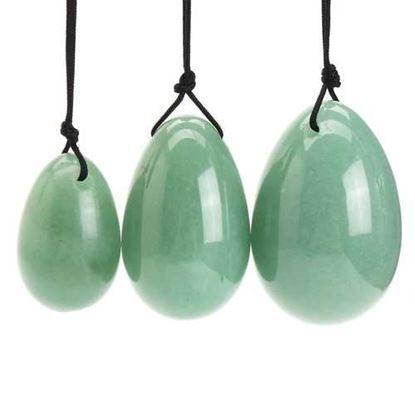 Picture of 3Pcs Natural Green Aventuri Yoni Egg Kegel Massager Stone
