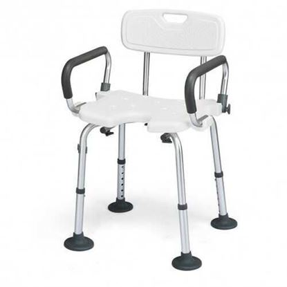 Picture of Adjustable Height U-Shaped Shower Chair