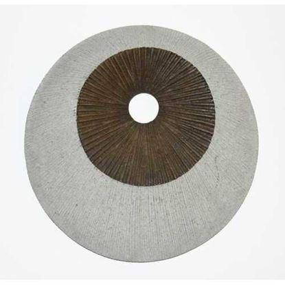 """图片 1"""" x 14"""" x 14"""" Brown & Gray Round Ribbed  Wall Decor"""