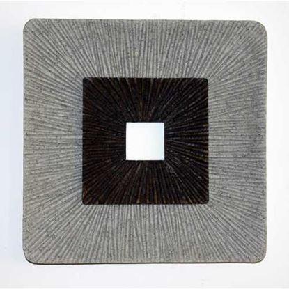 """图片 1"""" x 14"""" x 14"""" Brown & Gray, Square, Ribbed - Wall Art"""