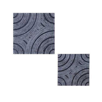 """图片 1"""" x 13"""" x 13"""" Gray Lined, Square - Wall Decor"""