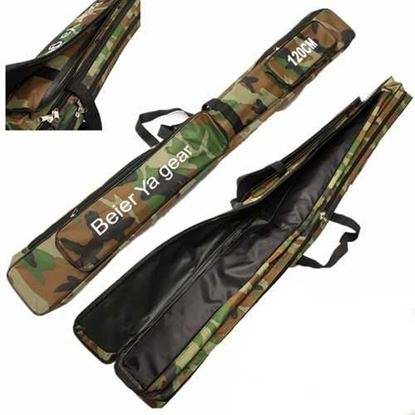 Picture of 120cm Camouflage Carp Fishing Rod Tackle Bag Case Padded Holder Luggage Holdall