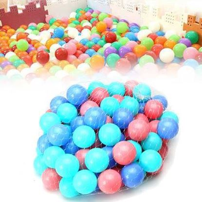 Picture of 100Pcs Colorful Ball Soft Plastic Ocean Ball Baby Kid Swim Pool Pit Toy
