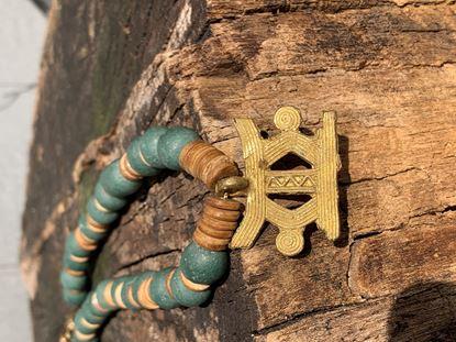 图片 African Glass Bead Necklace With Pendant